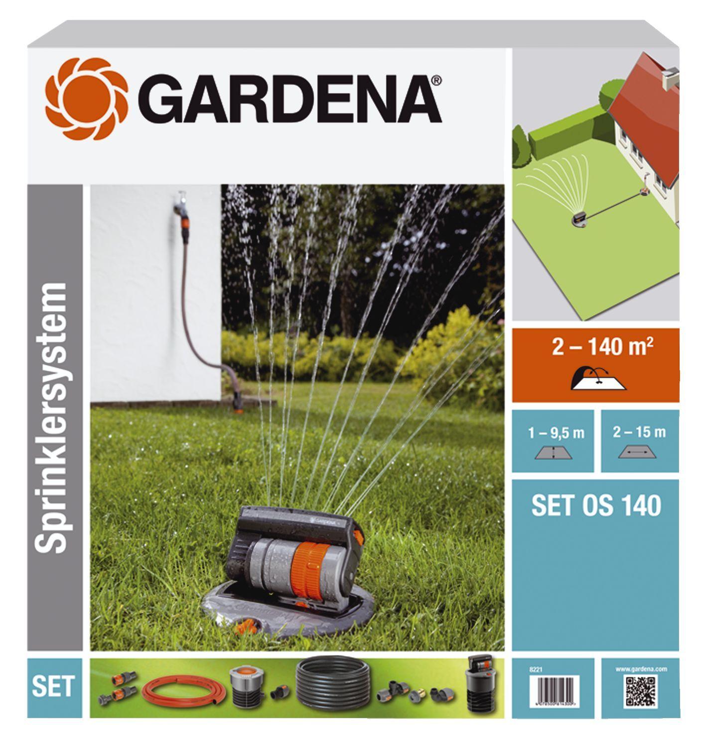 GARDENA Versenk-Viereckregner OS 140 Set 08221-20 Bild 1