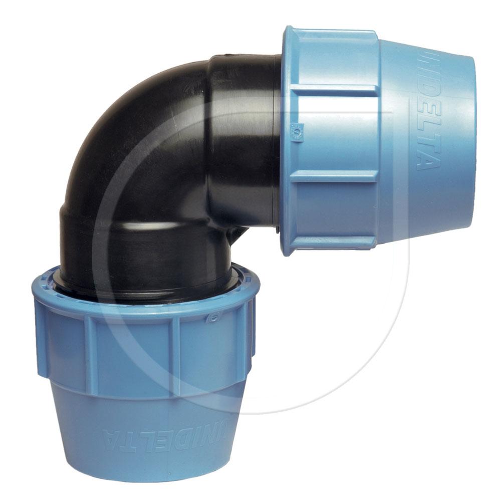 Klemmfitting PN16 Winkel 90° für PE-Rohr Ø25x25mm Bild 1