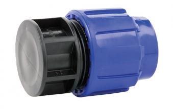 PP Klemmfitting Endkappe für PE-LD Rohr 32mm Bild 1