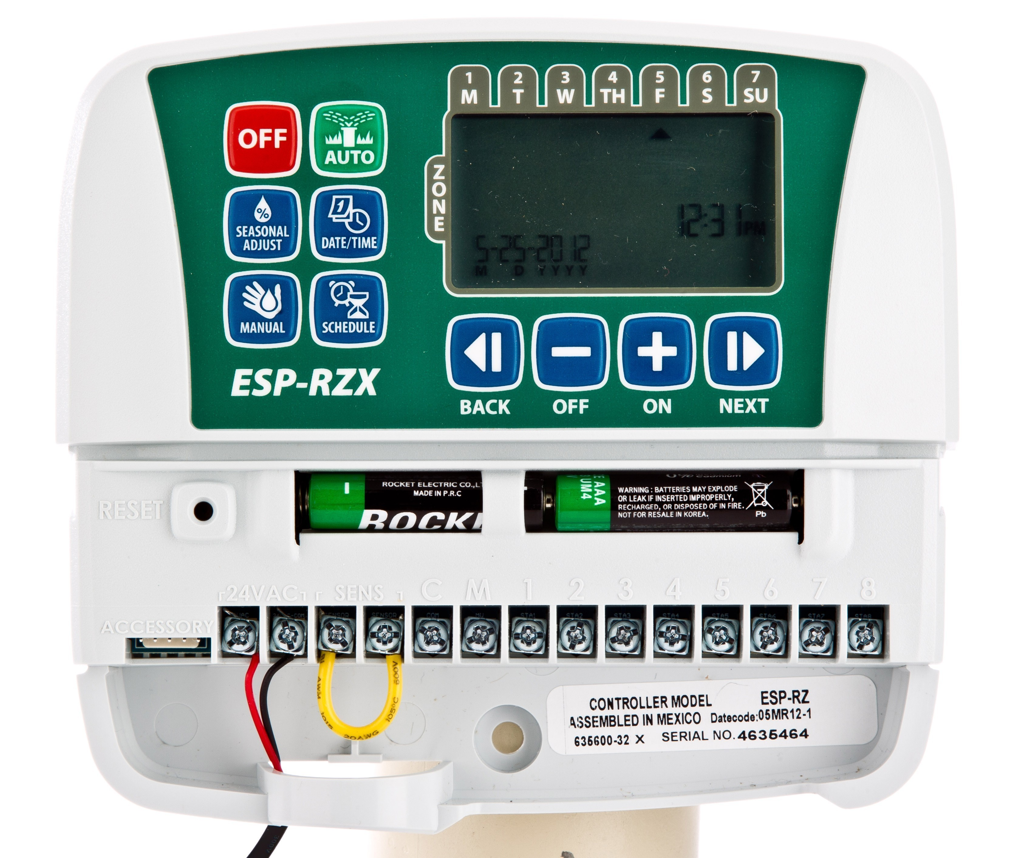 Rainbird Steuergerät ESP-RZX4i 4 Stationen Innenmontage Bild 2