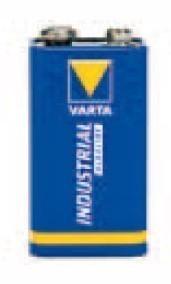 Varta Industrial Batterie 9 Volt Block / Alkalizellen Batterie Bild 1